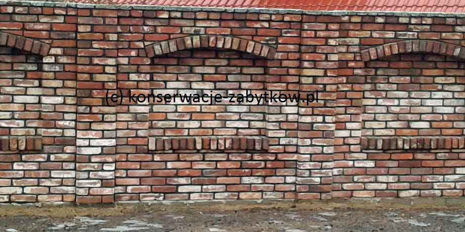 Gartenmauer aus alte Reichsformatziegel