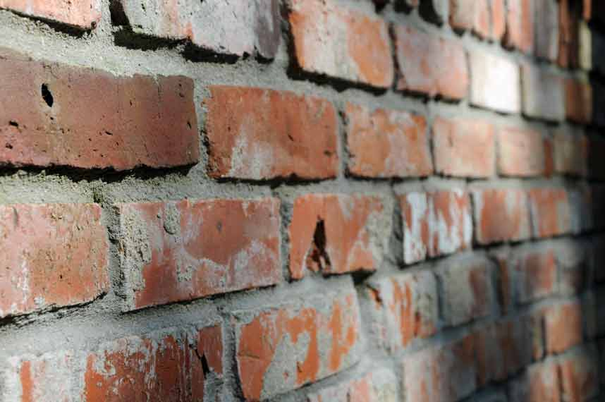 Gartenmauer - Antike Ziegelsteine Optik
