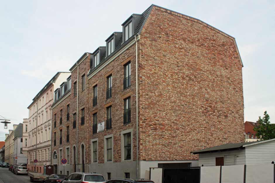 Altziegelfassade in Schwerin
