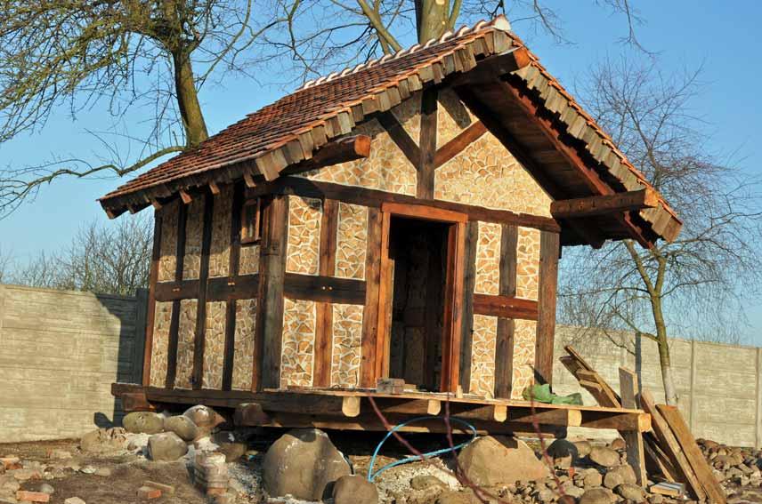 Sauna in Garten